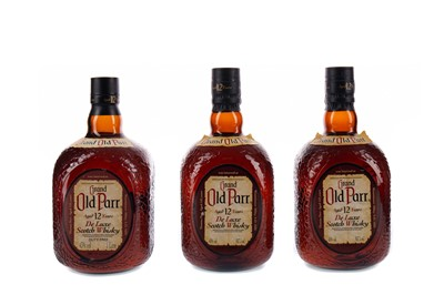 Lot 55 - THREE BOTTLES OF GRAND OLD PARR AGED 12 YEARS
