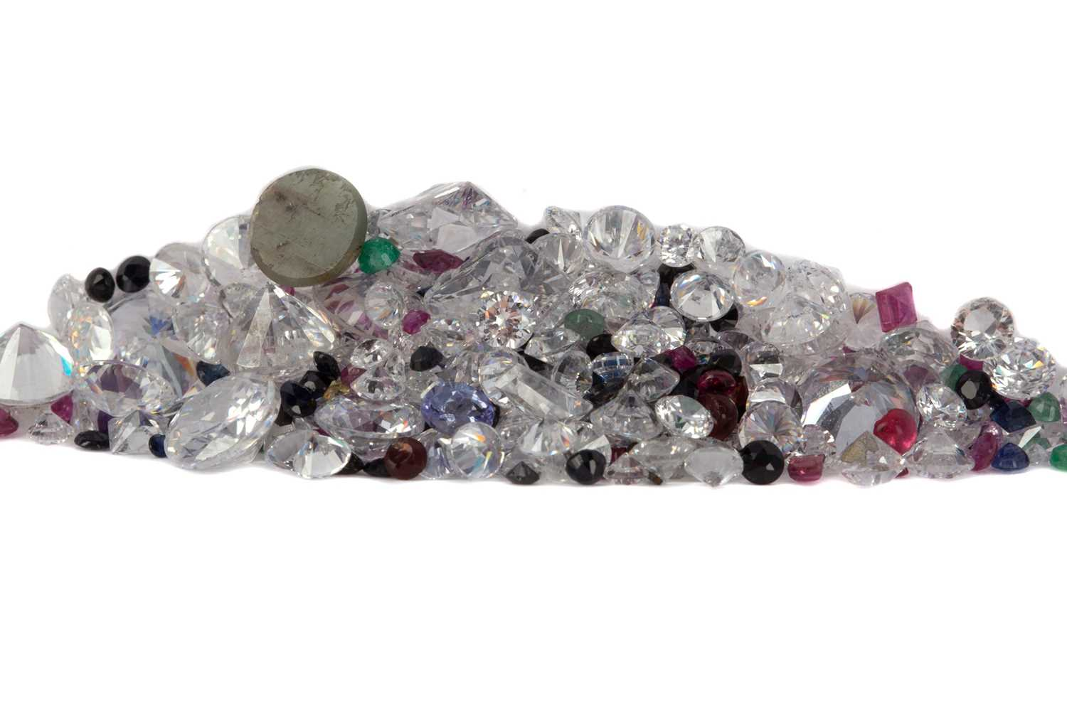Lot 1393 - **A COLLECTION OF UNMOUNTED STONES