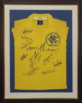 Lot 1718 - RANGERS F.C. INTEREST - EUROPEAN CUP WINNERS CUP FINAL 1972 COMMEMORATIVE JERSEY