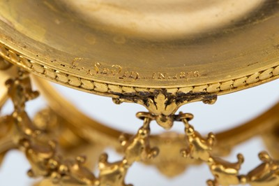 Lot 799 - A SET OF EIGHT ORMOLU TABLE COMPORTS BY FERDINAND BARBEDIENNE