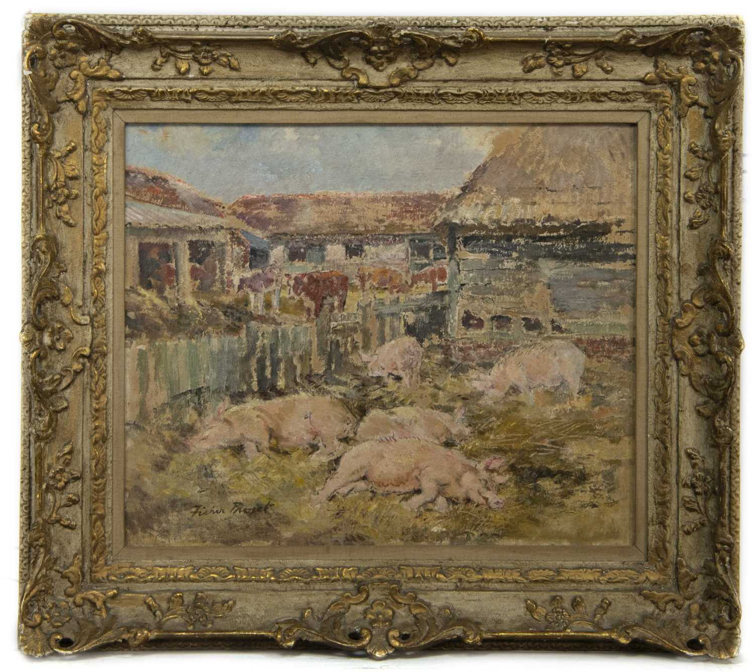 Lot 50 - SIESTA, AN OIL BY MARGARET FISHER PROUT