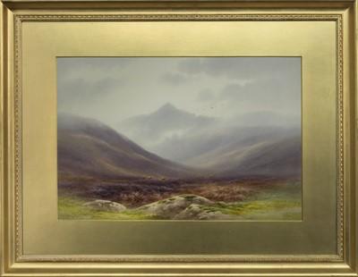 Lot 49 - GLEN ROSA, ARRAN, A WATERCOLOUR BY CHARLES EDWARD BRITTAN