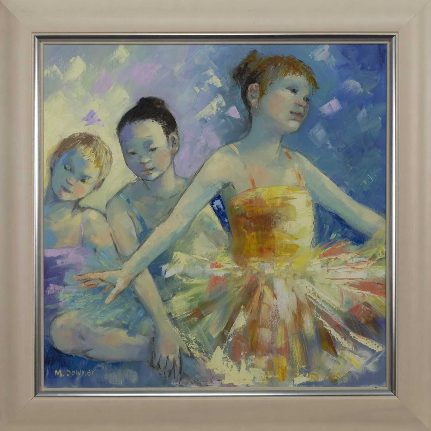 Lot 514 - RAINBOW CHORUS, AN OIL BY MAGGIE DOWNER