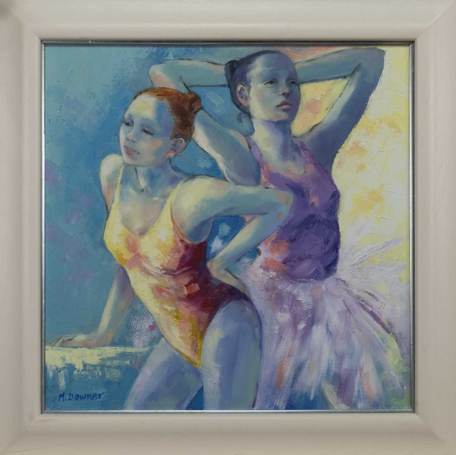 Lot 515 - PAUSE, AN OIL BY MAGGIE DOWNER
