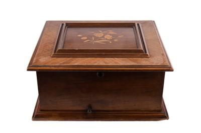 Lot 1116 - A LATE 19TH CENTURY WALNUT CASED POLYPHON MUSIC BOX