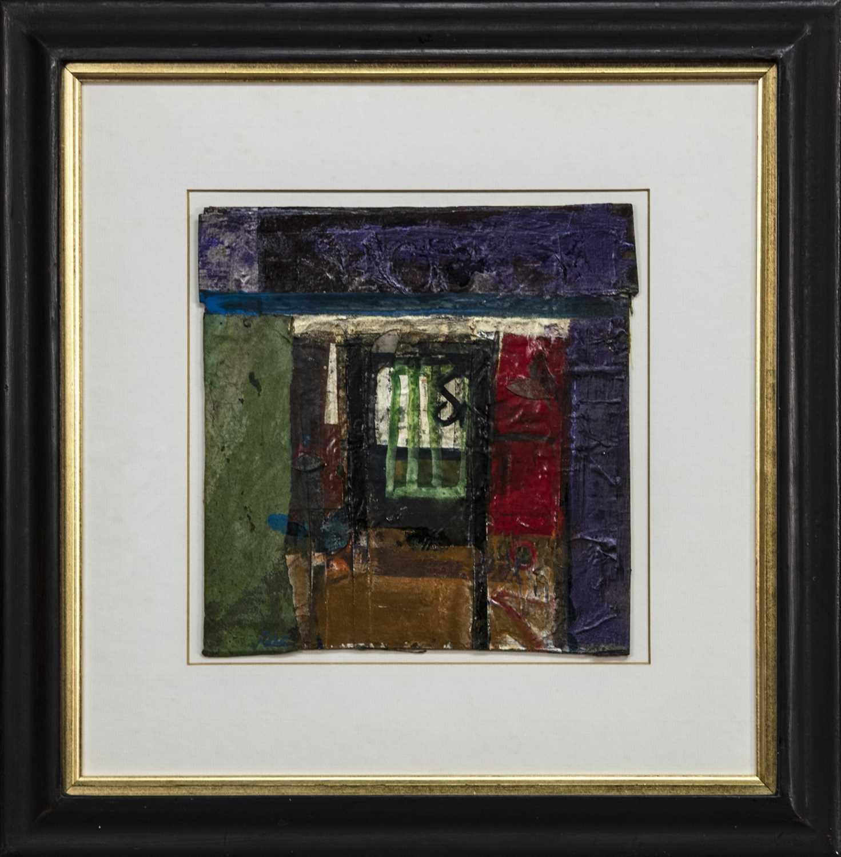 Lot 518 - SPANISH WINDOW, A MIXED MEDIA BY BARBARA RAE