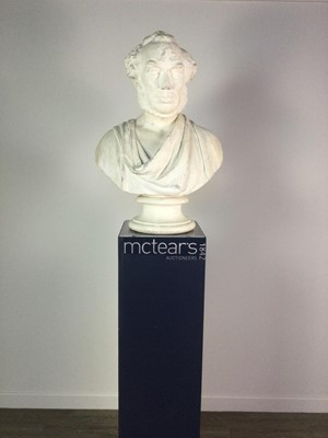Lot 800 - 19TH CENTURY PLASTER BUST BY GEORGES-EDWIN EWING
