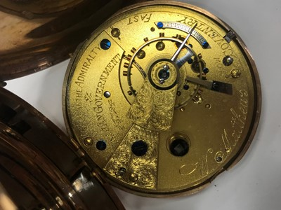 Lot 708 - A NINE CARAT GOLD FULL HUNTER POCKET WATCH