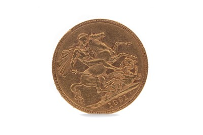 Lot 7 - A VICTORIA GOLD SOVEREIGN DATED 1891
