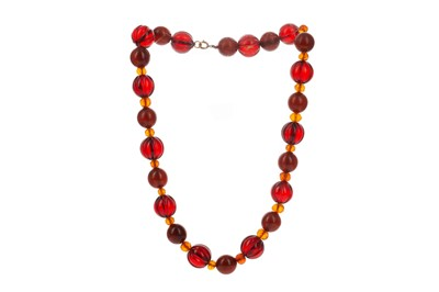 Lot 1460 - A BEAD NECKLACE