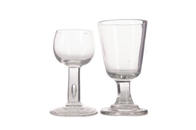 Lot 1106 - AN EARLY 19TH CENTURY TOASTING GLASS