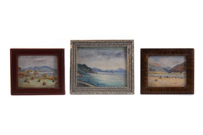 Lot 802 - A GROUP OF THREE PAINTINGS ON IVORY