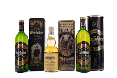Lot 97 - TWO BOTTLES OF GLENFIDDICH SPECIAL OLD RESERVE, AND GLEN MORAY 12 YEARS OLD
