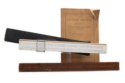 Lot 803 - A 19TH CENTURY CALCULATING SLIDE RULE BY W.F. STANLEY AND ANOTHER