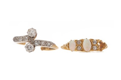 Lot 1552 - TWO PARTIAL RINGS