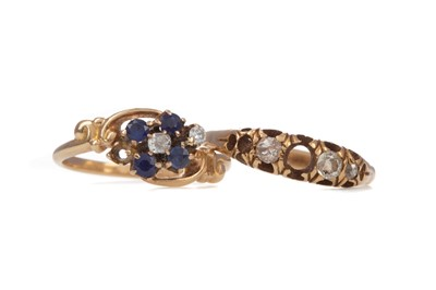 Lot 1555 - TWO PARTIAL RINGS