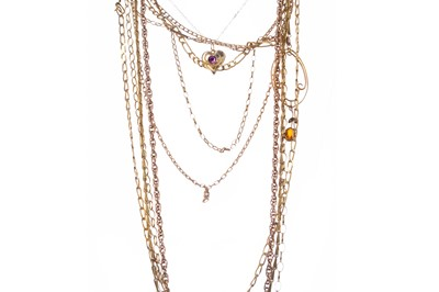 Lot 1558 - A GROUP OF CHAINS