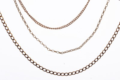 Lot 1559 - A GROUP OF BROKEN CHAINS