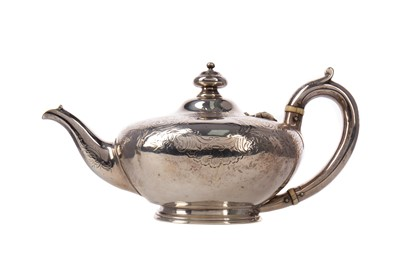 Lot 511 - A VICTORIAN SILVER AFTERNOON TEAPOT