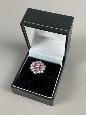 Lot 2 - A GEM STONE CLUSTER RING