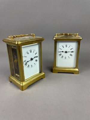 Lot A LOT OF TWO BRASS CARRIAGE CLOCKS