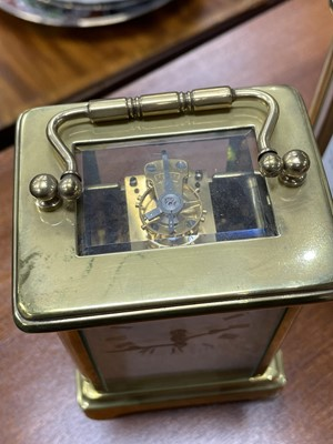 Lot 10 - A LOT OF TWO BRASS CARRIAGE CLOCKS