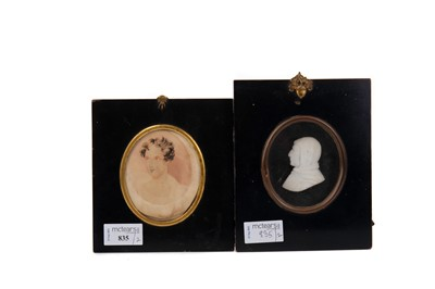 Lot 835 - TWO LATE 18TH/EARLY 19TH CENTURY MINIATURES