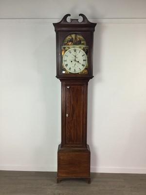 Lot 1131 - A 19TH CENTURY EIGHT DAY LONGCASE CLOCK BY JOHN MURDOCH OF AYR