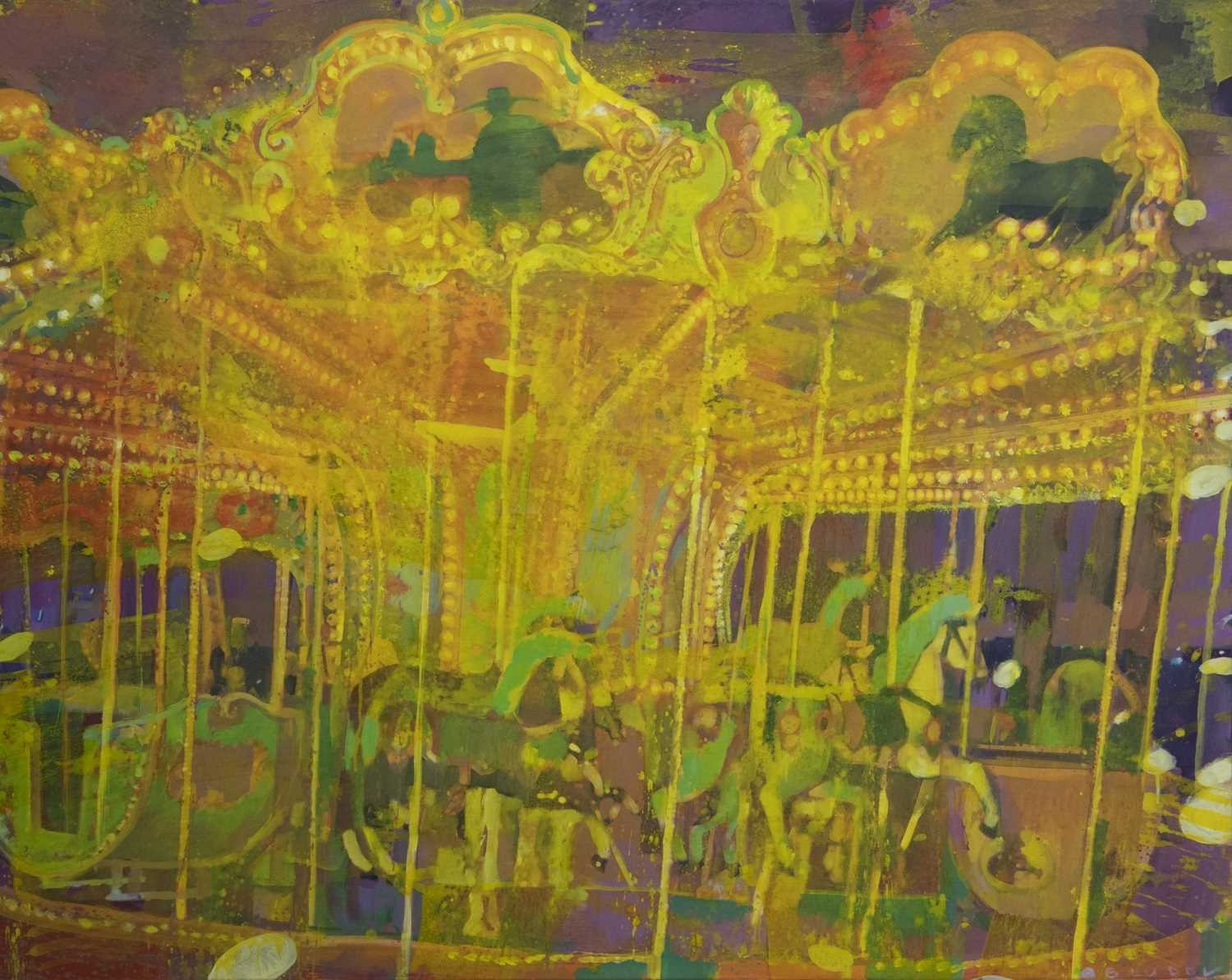 Lot 562 - CAROUSEL, AN ACRYLIC BY ANDREI BLUDOV