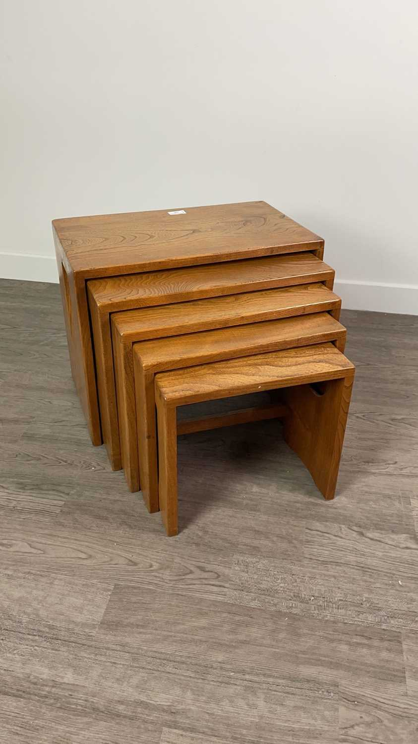 Lot A NEST OF FIVE ERCOL OBLONG OCCASIONAL TABLES