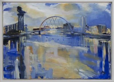 Lot 545 - FINNIESTON REFLECTIONS, AN OIL BY HELEN MCDONALD MATHIE