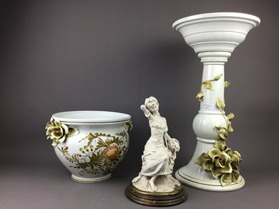 Lot 67 - A JARDINIERE AND A FIGURE