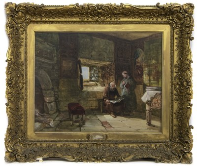 Lot 73 - THE READING ROOM, A WATERCOLOUR