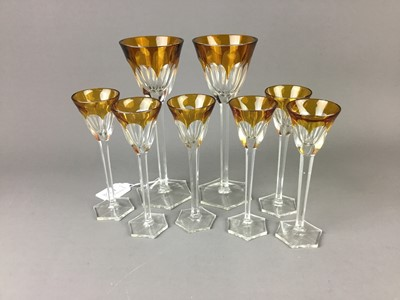 Lot A SET OF EIGHT GLASSES