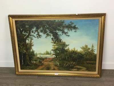 Lot 44 - COUNTRY PATH, AN OIL BY WILLIAM POWELL AND TWO OTHER PICTURES