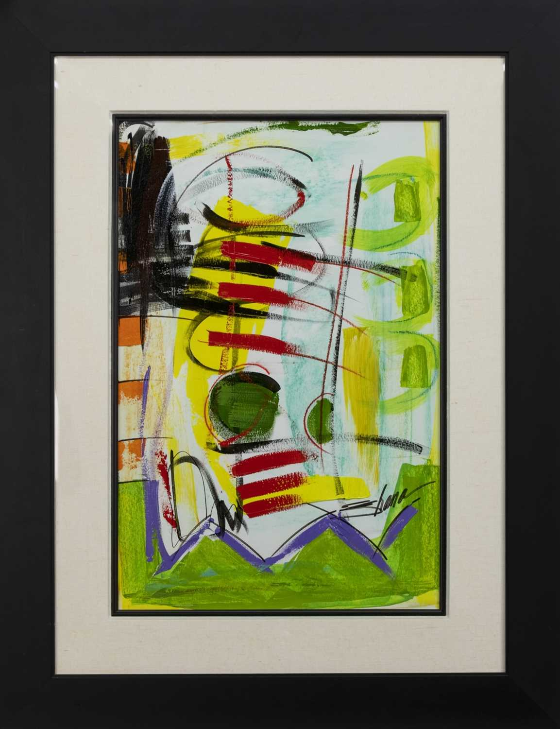 Lot 551 - AN EXTENSION, A MIXED MEDIA BY SHANA DOMINGUEZ