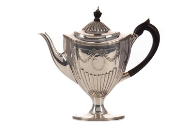 Lot 546 - A VICTORIAN SILVER BACHELOR'S COFFEE POT