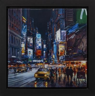 Lot 553 - NEW YORK BY NIGHT, A PRINT BY HENDERSON CISZ