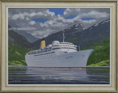 "Lot 565 - M.V. ""SEA PRINCESS"", AN OIL BY JOHN NICHOLSON"