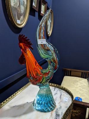 Lot 80 - A MURANO GLASS COCKEREL