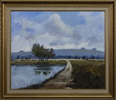Lot 557 - LANDSCAPE, AN OIL BY JAMES ORR