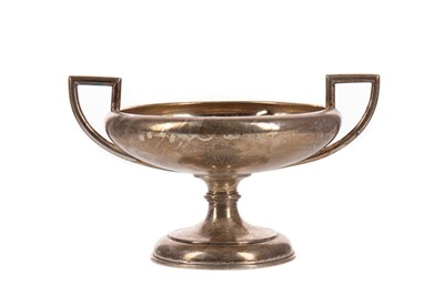 Lot 549 - A SILVER TWIN-HANDLED PEDESTAL BOWL BY DAVID ANDERSEN