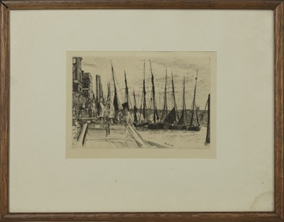 Lot 410 - AT DOCK, AN ETCHING BY JAMES ABBOTT MCNEILL WHISTLER