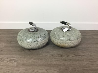 Lot 844 - A PAIR OF CURLING STONES