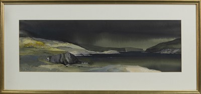 Lot 629 - EVENING CROFTS, A WATERCOLOUR BY TOM SHANKS
