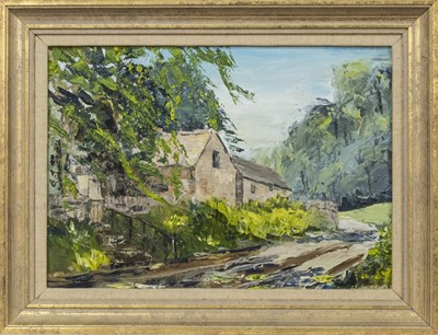 Lot 417 - FOREST HOME, AN OIL BY JOHN B HALL