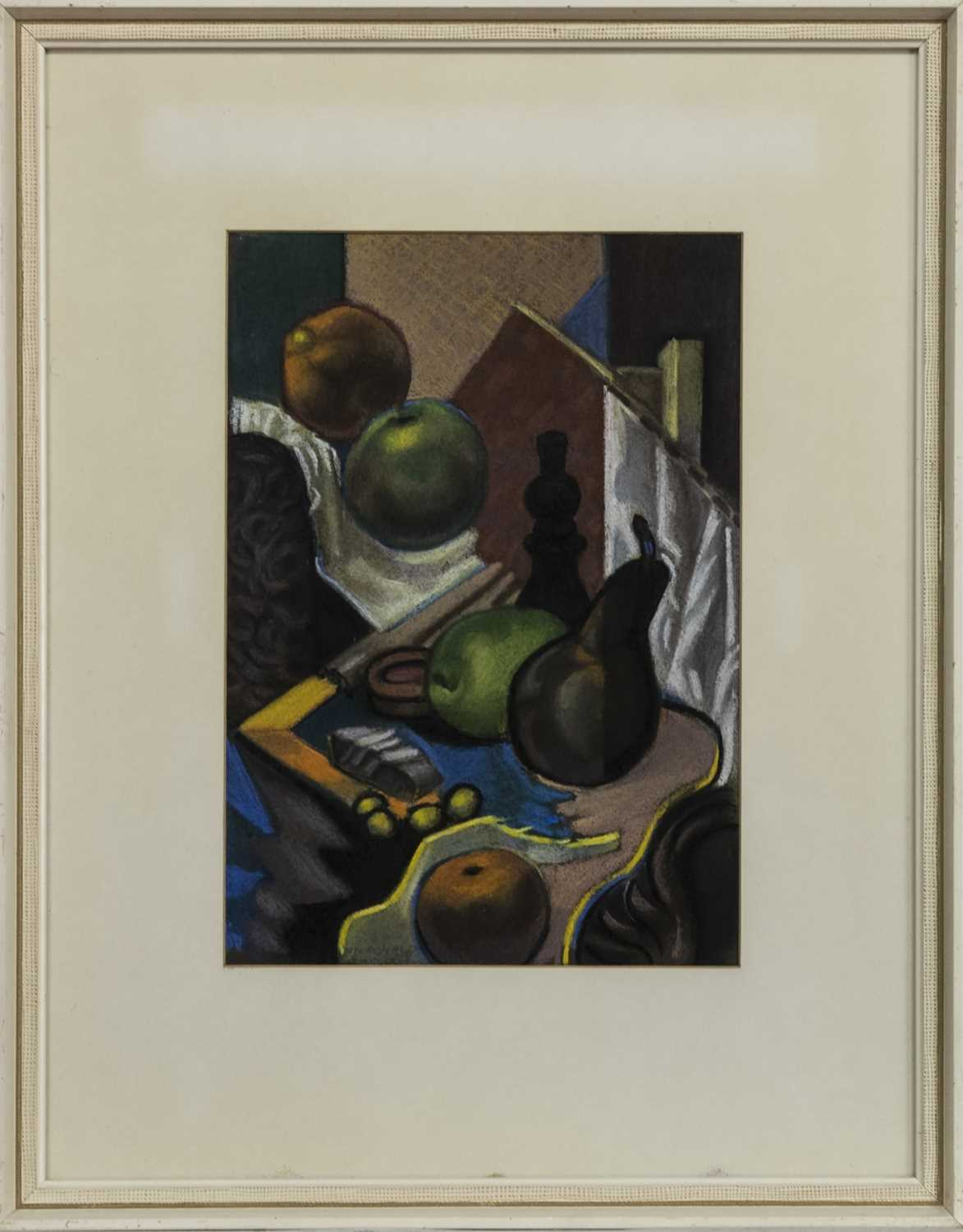 Lot 561 - STILL LIFE WITH PAWN, A PASTEL BY TOM MACDONALD