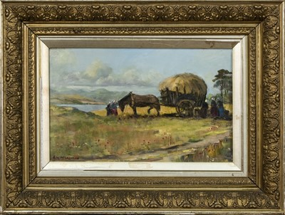 Lot 419 - A PAIR OF HARVEST SCENES BY R W MCLACHLAN