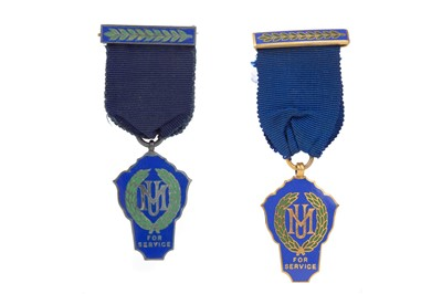 Lot 854 - TWO ENAMELLED MEDALS