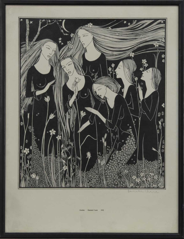Lot 577 - GARDEN (1932), A LITHOGRAPH BY HANNAH FRANK